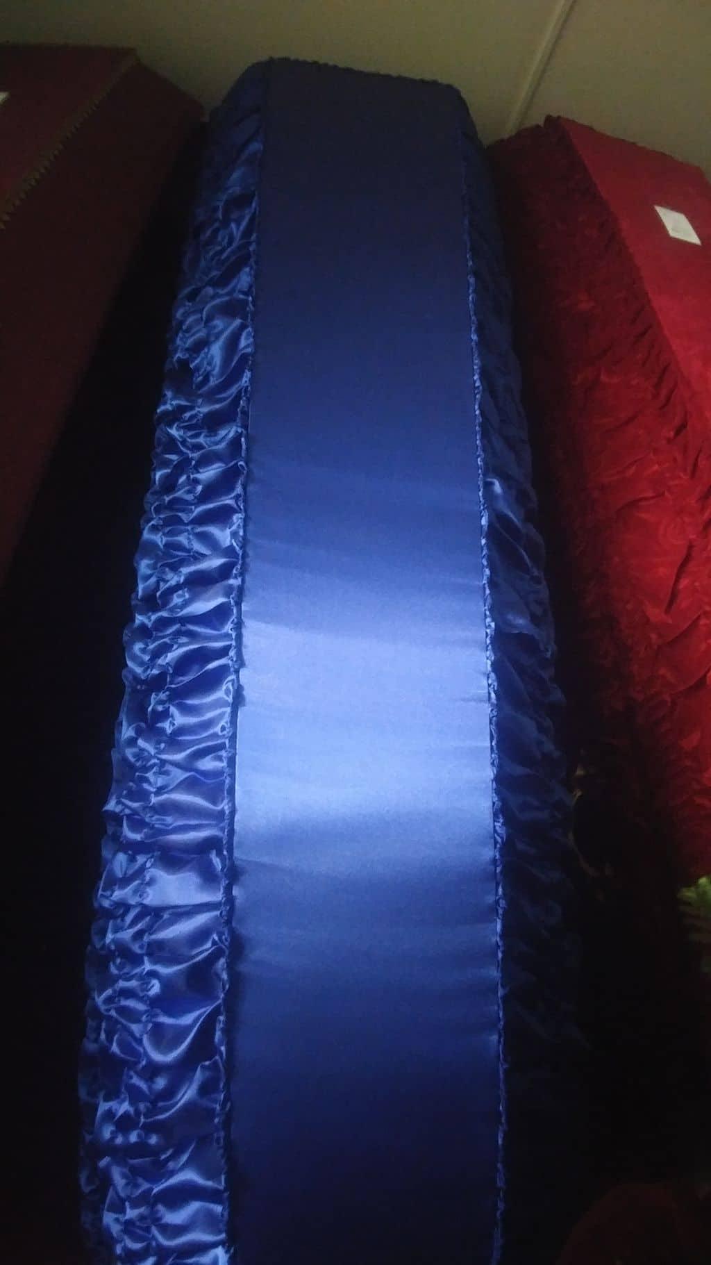 гроб атлас синий